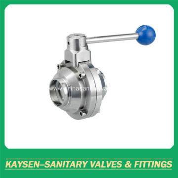 Sanitary Welded Butterfly Type Ball Valve 3A/SMS/ISO/DS